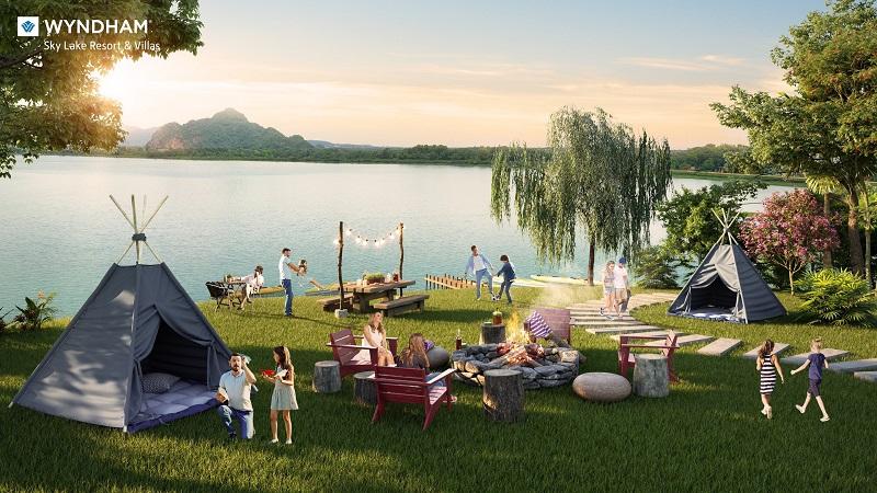 tit Wyndham Sky Lake Resort & Villas được ví như một bức họa từ thiên nhiên